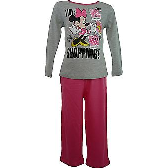 Девочки Дисней Минни мышь с длинным рукавом пижамы HM2036