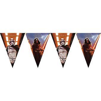 Fiesta de niños Star Wars Wimpel cadena 230 cm la fuerza despierta cumpleaños niños