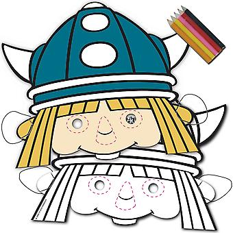 Wickie comic Viking mask Kids Party 8 piece children's birthday