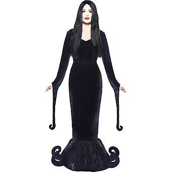 Familjen Addams klänning svart Morticia kvinnors klänning Halloween