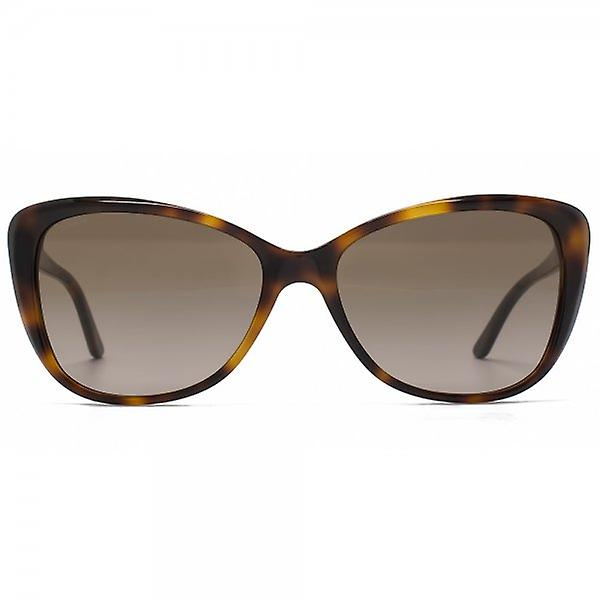 Versace Rock Icons Flared Sunglasses In Dark Havana