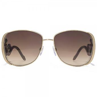 Roberto Cavalli Minkar Sunglasses In Gold Black