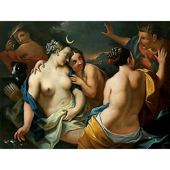 Diana and Actaeon Poster Print Giclee
