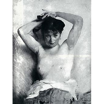 Lovis Corinth - Nude Woman Sitting Poster Print Giclee