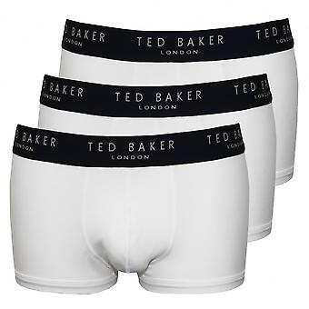 Ted Baker 3-Pack Contrast taille Boxer Trunks, wit