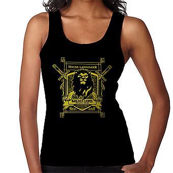 Game Of Thrones hus Lannister gyldne løver høre os brøl Kvinders Vest