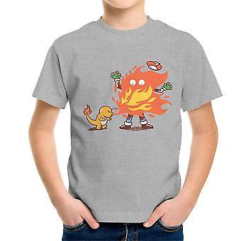 Dejar de Pokemon camiseta Charmander infantil
