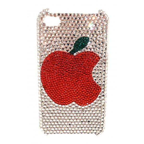 W.A.T Sparkling Crystal Red Apple IPhone 4 Phone Cover