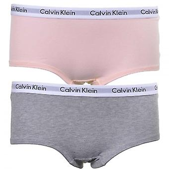 Calvin Klein Girls 2 Pack Modern Cotton Shorty Brief, Pink/Grey, XX-Large