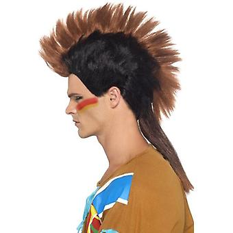 Smiffys Native American Inspired Male Mohican Wig Brown (Costumes)