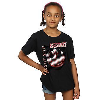 Star Wars Girls der letzten Jedi Licht Seite T-Shirt
