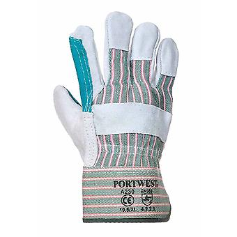 sUw - Double Palm Rigger-Builders-Gardeners Glove (3 Pair Pack)