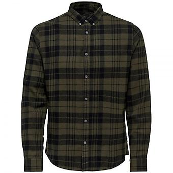 Only & Sons Gustav L/S Check Shirt Deep Depths Colour: DDEPTH,