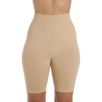 Camille Womens Seamfree Shapewear Komfort Steuerung Oberschenkel schlanker Slip In Beige