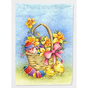 Carolines Treasures  APH4709GF Easter Basket with Flowers Flag Garden Size
