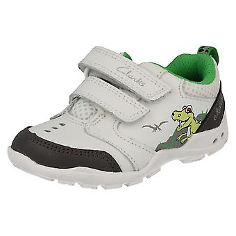 Boys Clarks Trainers Brite Dino