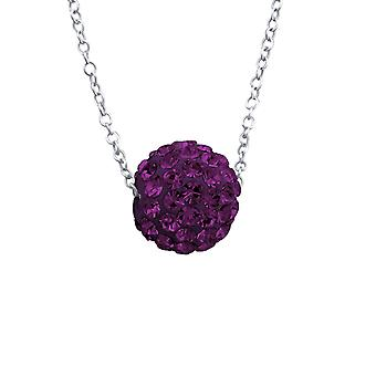 Ball - 925 Sterling Silver Jewelled Necklaces - W18871x