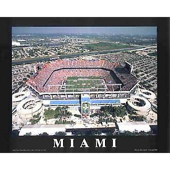 Miami Florida - Pro-Player Stadium Poster Print by Mike Smith (28 x 22)