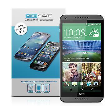 Yousave HTC желание 816 Защитные пленки - 5 шт.