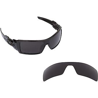 Oil Rig Replacement Lenses Polarized Black by SEEK fits OAKLEY Sunglasses
