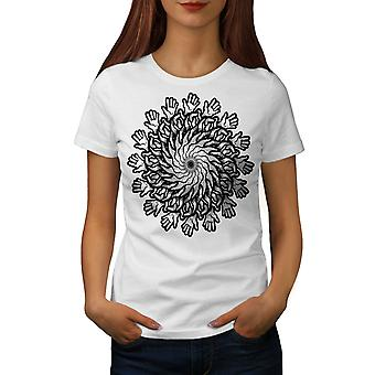 Mandala Flowers Women WhiteT-shirt | Wellcoda