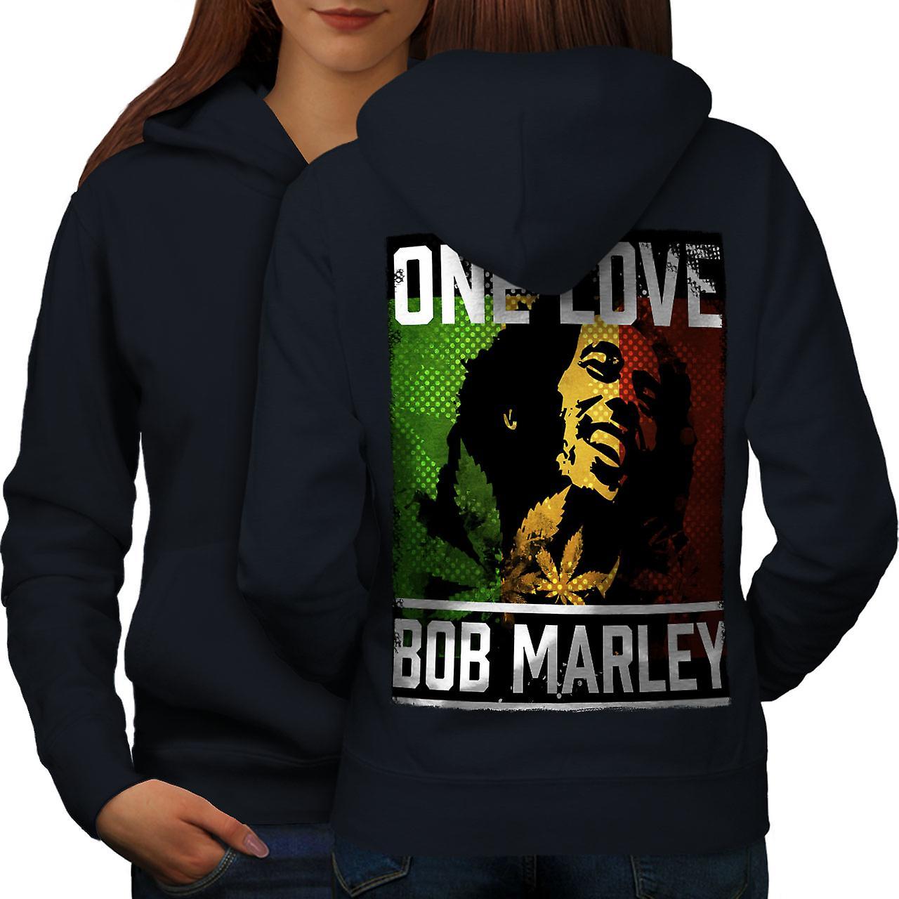 On aime Marley Pot femmes NavyHoodie dos