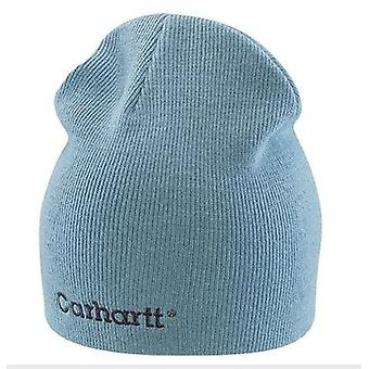 Carhartt Womens Rib Knit Beanie - Dusty Blue Ladies Solid Knit Hat