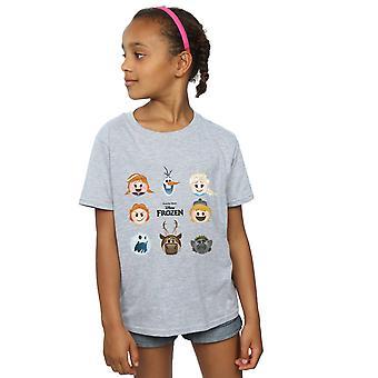 Disney Girls Frozen Emoji Heads T-Shirt