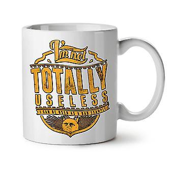 Not Useless Cat Slogan NEW White Tea Coffee Ceramic Mug 11 oz | Wellcoda