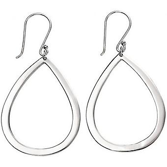 Beginnings Large Open Teardrop Drop Earrings - Silver