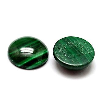 1 x Green Malachite Flat Back 12mm Coin 4.5mm Thick Cabochon Y07630