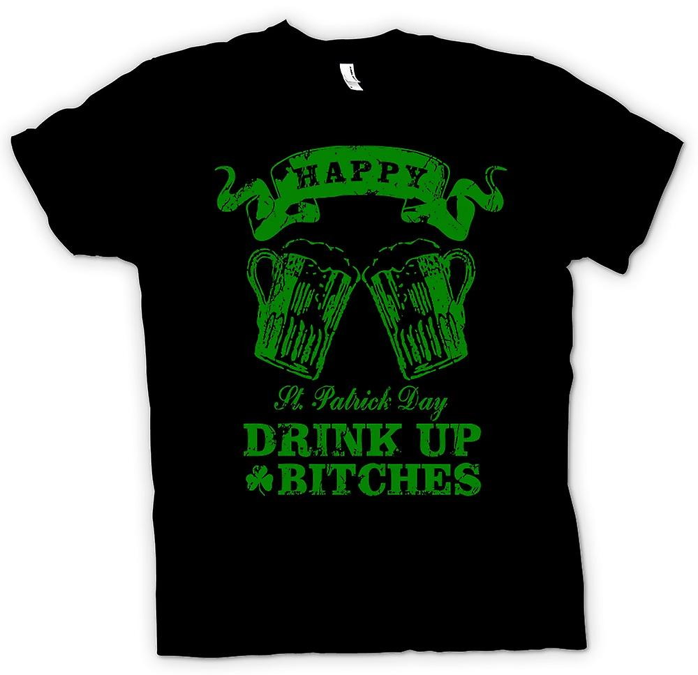 Kids T-shirt - St Patricks Day Drink Up Bitches - Funny