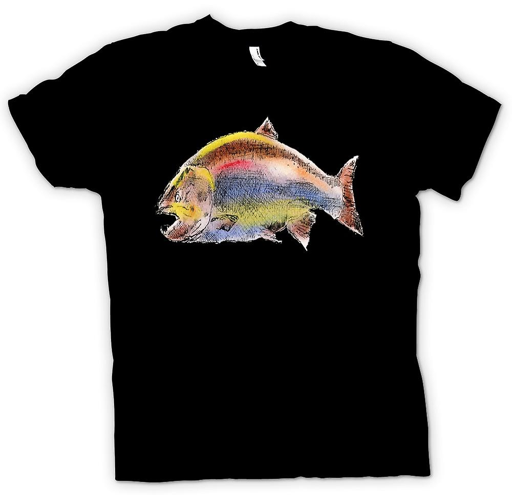 Mens T-shirt - I Love Salmon Fishing