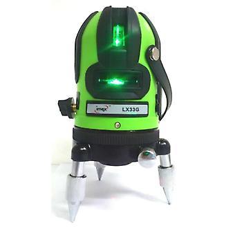 IMEX LX33G 3-zeiliges grüne Laserstrahl-Wasserwaage