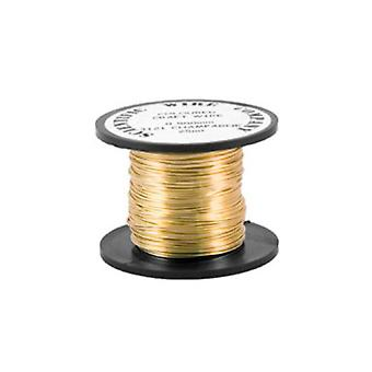 1 x Golden Plated Copper 0.9mm x 5m Round Craft Wire Coil WG090