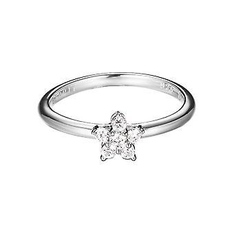 Esprit Damen Ring Silber Zirkonia Fleur ESRG92367A1