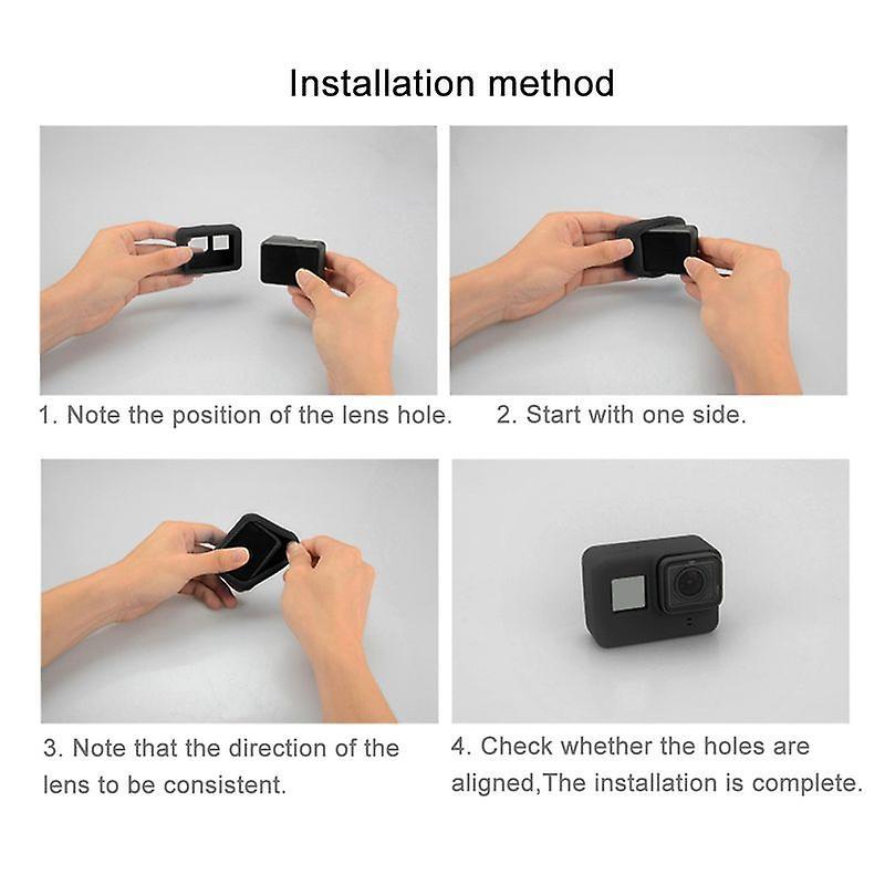 PULUZ Silikon Schutz für GoPro Hero 5 und 6 Schwarz