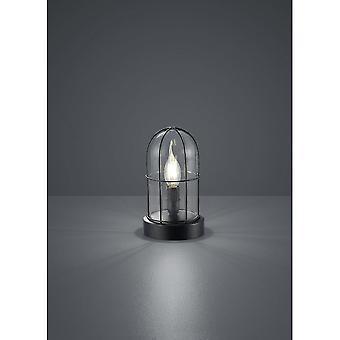 Trio Lighting Birte Vintage Black Metal Table Lamp