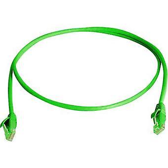 Telegärtner RJ45 Networks Cable CAT 5e U/UTP 0.5 m Green Flame-retardant, Halogen-free