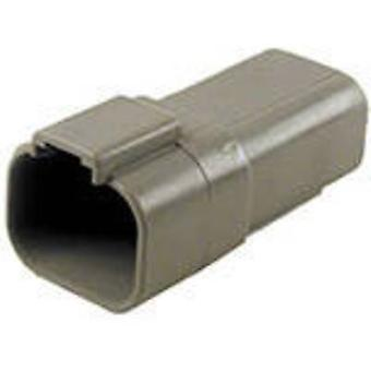 TE Connectivity DT04-4P-C015 Bullet connector Plug, straight Series (connectors): DT Total number of pins: 4 1 pc(s)