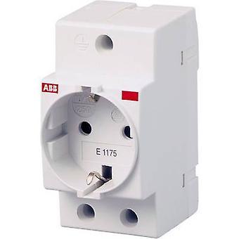 DIN rail mains socket w/o cover Grey
