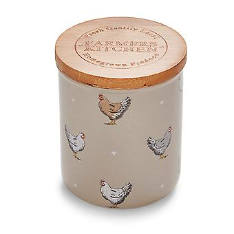 Cooksmart Farmers Kitchen Ceramic Canister, Putty