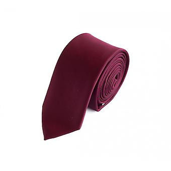 Knytte slipset binde bånd 6cm rød burgunder uni Fabio Farini