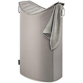 Blomus laundry collector FRISCO, aluminium with synthetic fiber combined, taupe