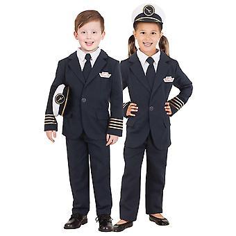 Qantas Captain Uniform Airline Pilot Flight Occupation Girls Boys Costume