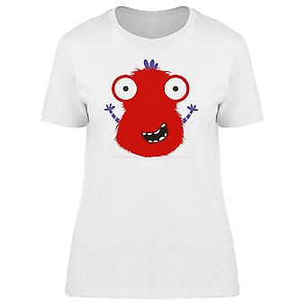 Red Monster With Arms Up Tee Women's -Image by Shutterstock