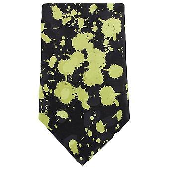 Knightsbridge Neckwear Paint Splash Tie - Black/Green