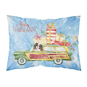 Merry Christmas Tricolor Cavalier Spaniel Fabric Standard Pillowcase