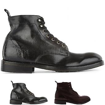 Mens H By Hudson Rune Leather Smart Office Work Business Ankle Boots