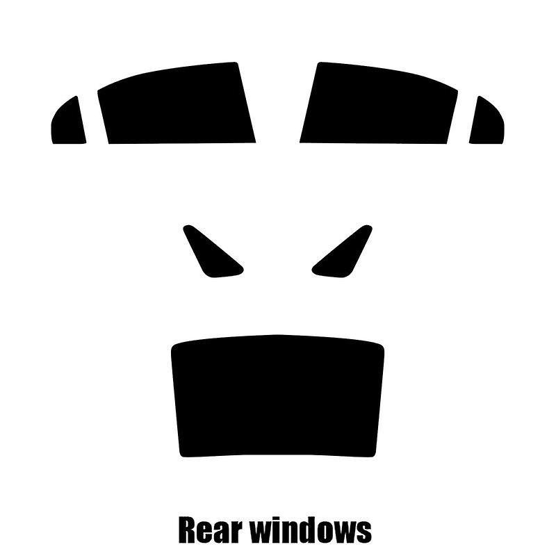 Pre cut window tint - Honda Civic Hybrid - 2006 to 2011 - Rear windows